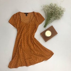 Forever 21 | Orange Polkadot Dress